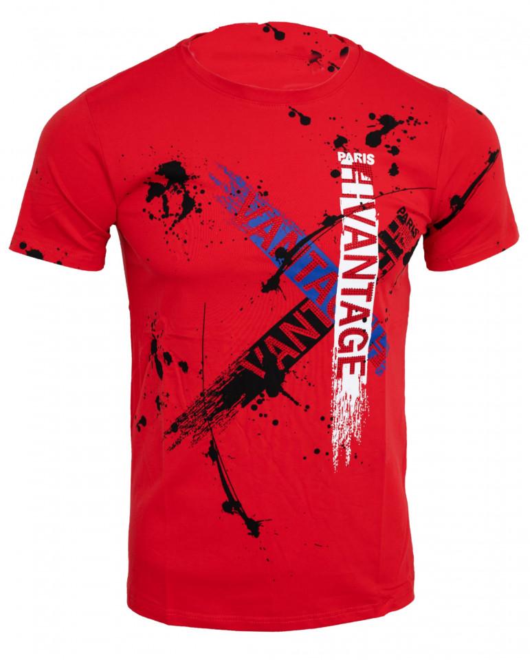Tricou imprimeu Vantage rosu N44