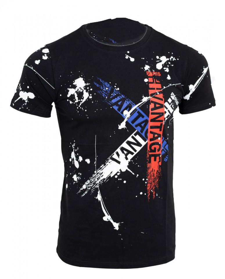 Tricou imprimeu Vantage negru N43
