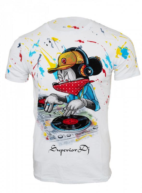 Tricou imprimeu Mickey negru N68