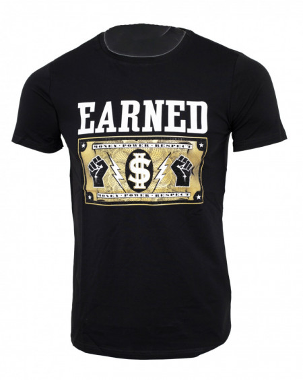Tricou imprimeu Earned negru N50