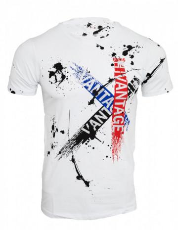 Tricou imprimeu Vantage alb N29