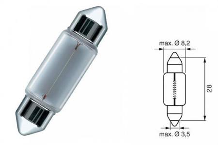 Bec SV7 12V 3W 8,2/28mm