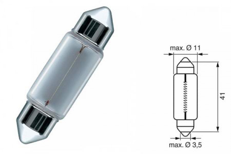 Bec SV8,5 12V 5W 11/41mm