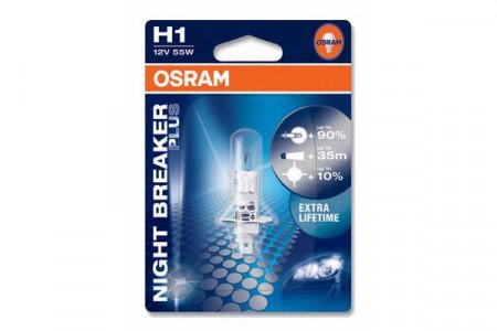 Bec H1 12V 55W P14,5s NIGHT BREAKER PLUS (BLISTER)