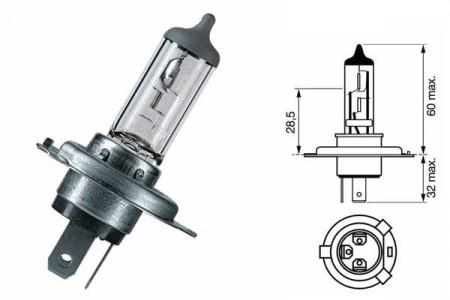 Bec H4 12V 60/55W P43t