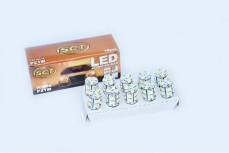 Set becuri LED P21W LED 12V 13x5050 BA15S (10 BUC)