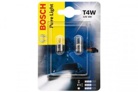 Set de 2 becuri T4W 12V 4W BA9s (BLISTER)