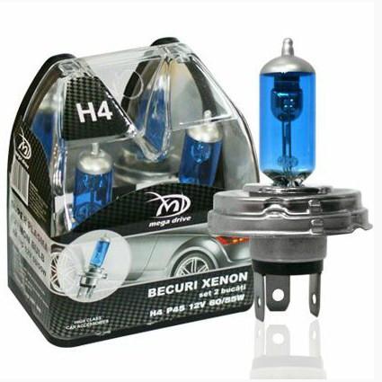 Set 2 becuri H4 P45 12V 100/90W XENON