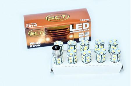 Set becuri LED P21W LED 24V 13x5050 BA15S (10 BUC)