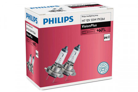 Set de 2 becuri H7 12V 55W PX26d VISION PLUS