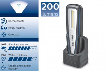 Lampa service LED cu acumulator si docking station