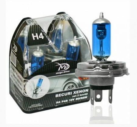 Set 2 becuri H4 P45 12V 60/55W XENON