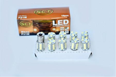Set becuri LED P21W LED 24V 18x5050 BA15S (10 BUC)