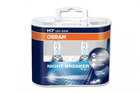 Set de 2 becuri H7 12V 55W PX26d NIGHT BREAKER PLUS