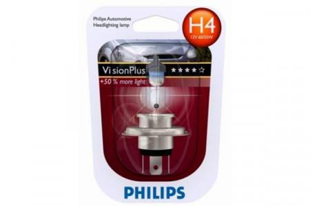 Bec H4 12V 60/55W P43t VISION PLUS (BLISTER)