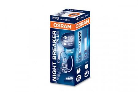 Bec H3 12V 55W PK22s NIGHT BRAKER PLUS
