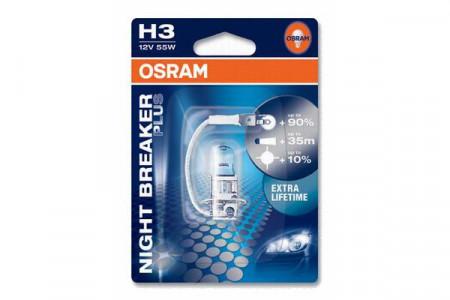 Bec H3 12V 55W PK22s NIGHT BRAKER PLUS (BLISTER)