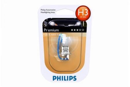 Bec H3 12V 55W PK22s PREMIUM (BLISTER)