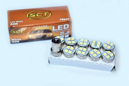 Set becuri LED R5W/10W LED 12V 4x5050 BA15S (10 BUC)