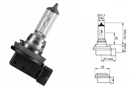 Bec H9 12V 65W PGJ 19-5
