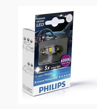 BEC LED X-treme vision PHILIPS C5W 12V 1W/6000K