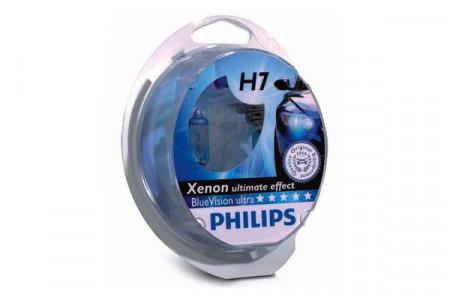 Set de 2 becuri H7 12V 55W PX26d BLUE VISION ULTRA