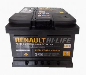 Baterie auto RENAULT 12V 47Ah 420A