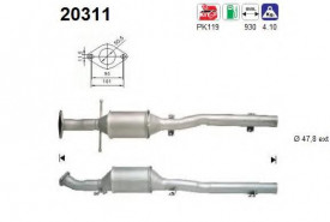 Catalizator Ford Focus 1998-2004