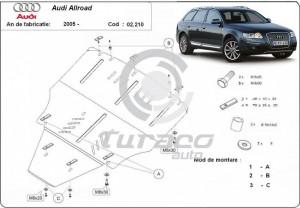Scut motor metalic fara latera Audi Allroad