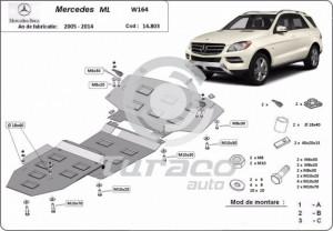 Scut motor metalic Mercedes ML W164