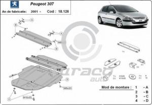 Scut motor metalic Peugeot 307