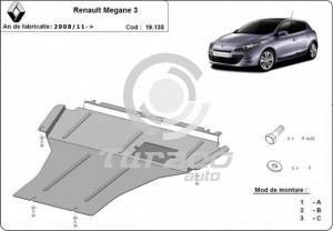 Scut motor metalic Renault Megane 3