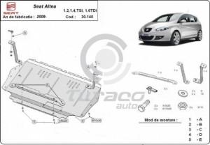 Scut motor metalic Seat Altea