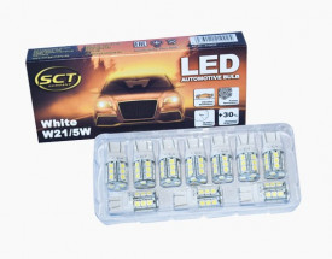 Set becuri LED W21/5W LED 12V 18x5050 W3x16q/T20 (10 BUC)
