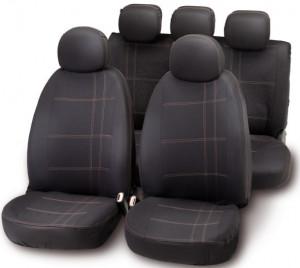 Set huse scaune gri/negru