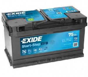 Baterie auto EXIDE EFB 75Ah