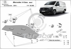 Scut metalic pentru sistemul Stop and GO Mercedes V-Class W447