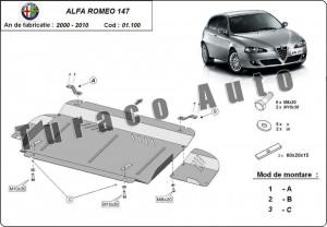 Scut motor metalic Alfa Romeo 147