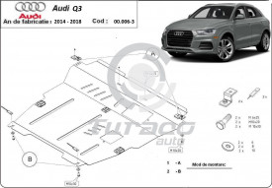 Scut motor metalic Audi Q3