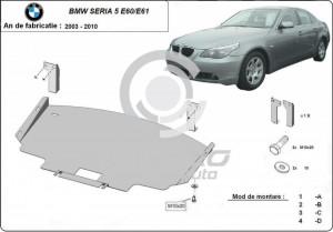 Scut motor metalic BMW Seria 5 E60/E61 cu bara normala