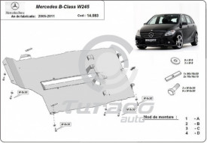Scut motor metalic Mercedes B-Class W245