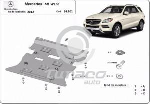 Scut motor metalic Mercedes ML W166