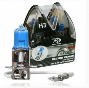 Set 2 becuri H3 12V 55W P43 XENON