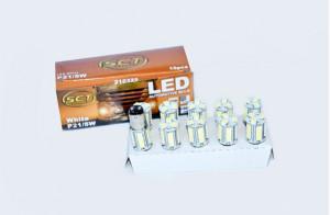Set becuri LED P21/5W LED 24V 18x5050 BA15S (10 BUC)