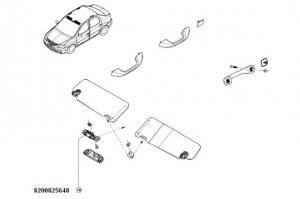 Suport port ochelari Dacia Logan/ Dacia Sandero/ Dacia Duster