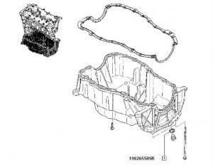 Garnitura buson baie ulei Dacia Duster/ Dacia Logan/ Dacia Sandero/ Dacia Lodgy/ Dacia Dokker