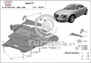 Scut motor metalic Audi TT (8N3)