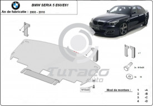 Scut motor metalic BMW Seria 5 E60 / E61 cu bara M