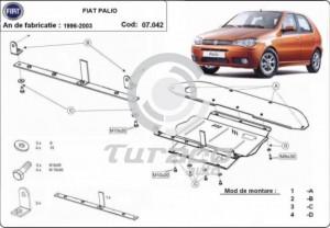 Scut motor metalic Fiat Palio