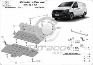 Scut motor metalic Mercedes V-Class W447
